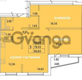 Продается квартира 3-ком 80.85 м² Голландская улица 3, метро Ладожская