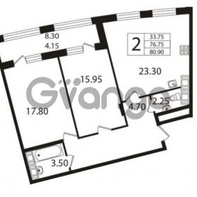 Продается квартира 2-ком 76.75 м² Ушаковская набережная 3, метро Черная речка