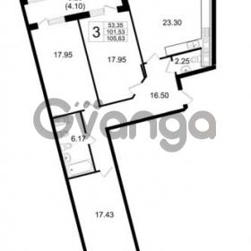 Продается квартира 3-ком 101.53 м² Ушаковская набережная 3, метро Черная речка