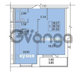 Продается квартира 1-ком 41.03 м² Голландская улица 3, метро Ладожская