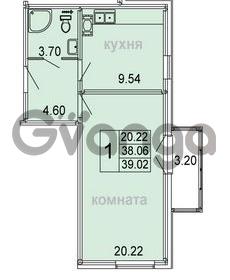 Продается квартира 1-ком 39.02 м² Голландская улица 3, метро Ладожкая
