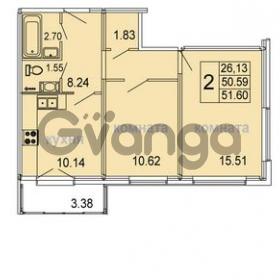 Продается квартира 2-ком 51.6 м² Голландская улица 3, метро Ладожкая