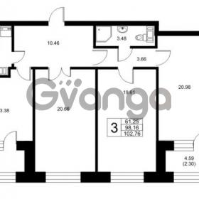 Продается квартира 3-ком 98.16 м² Ушаковская набережная 3, метро Черная речка