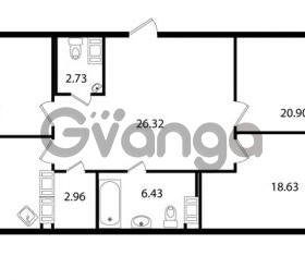 Продается квартира 3-ком 117.44 м² Ушаковская набережная 3, метро Черная речка