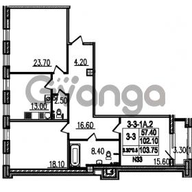 Продается квартира 3-ком 103.9 м² Полтавский проезд 2, метро Площадь Восстания