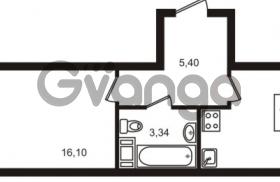 Продается квартира 1-ком 39 м² Центральная улица 83, метро Ладожская