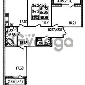 Продается квартира 3-ком 98.5 м² Полтавский проезд 2, метро Площадь Восстания