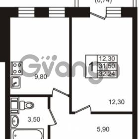Продается квартира 1-ком 31 м² Центральная улица 83, метро Ладожская