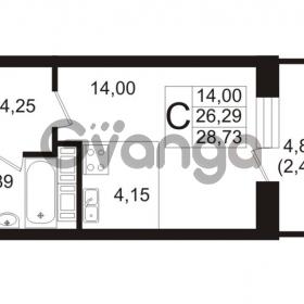 Продается квартира 1-ком 26.29 м² Ушаковская набережная 3, метро Черная речка
