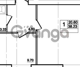 Продается квартира 1-ком 38 м² Центральная улица 83, метро Ладожская