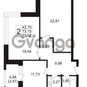 Продается квартира 2-ком 73.15 м² Ушаковская набережная 3, метро Черная речка