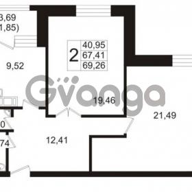 Продается квартира 2-ком 67.41 м² Ушаковская набережная 3, метро Черная речка