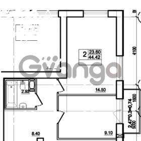 Продается квартира 1-ком 44 м² Центральная улица 83, метро Ладожская