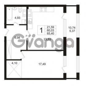 Продается квартира 1-ком 60.03 м² Ушаковская набережная 3, метро Черная речка