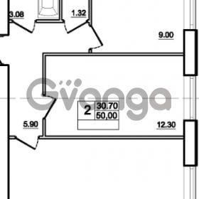 Продается квартира 2-ком 50 м² Центральная улица 83, метро Ладожская