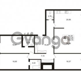 Продается квартира 4-ком 142.26 м² Ушаковская набережная 3, метро Черная речка