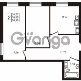 Продается квартира 2-ком 54 м² Центральная улица 83, метро Ладожская