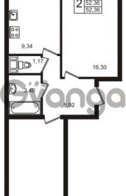 Продается квартира 2-ком 52 м² Центральная улица 83, метро Ладожская