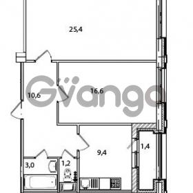 Продается квартира 2-ком 67.6 м² Кременчугская улица 23, метро Площадь Восстания