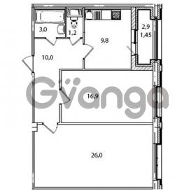 Продается квартира 2-ком 68.4 м² Кременчугская улица 23, метро Площадь Восстания