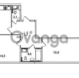 Продается квартира 2-ком 69.2 м² Кременчугская улица 23, метро Площадь Восстания