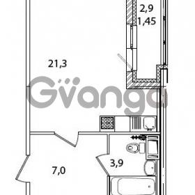 Продается квартира 1-ком 33.7 м² Кременчугская улица 23, метро Площадь Восстания