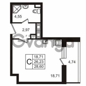 Продается квартира 1-ком 26.23 м² улица Пионерстроя 29, метро Проспект Ветеранов