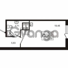 Продается квартира 1-ком 28.02 м² улица Пионерстроя 29, метро Проспект Ветеранов
