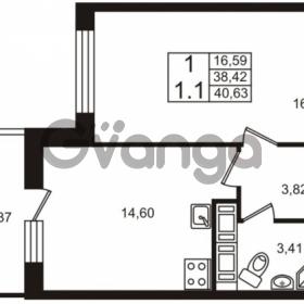 Продается квартира 1-ком 38 м² Столичная улица 1, метро Улица Дыбенко