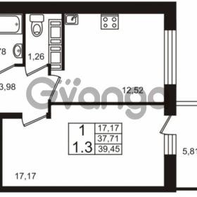 Продается квартира 1-ком 37 м² Столичная улица 1, метро Улица Дыбенко
