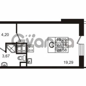 Продается квартира 1-ком 28.57 м² улица Пионерстроя 29, метро Проспект Ветеранов
