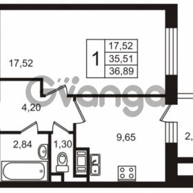 Продается квартира 1-ком 35.63 м² улица Пионерстроя 29, метро Проспект Ветеранов