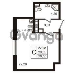 Продается квартира 1-ком 29.54 м² улица Пионерстроя 29, метро Проспект Ветеранов