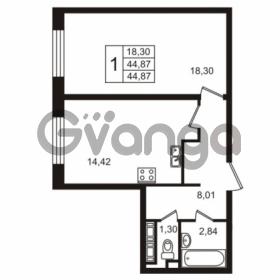 Продается квартира 1-ком 44.87 м² улица Пионерстроя 29, метро Проспект Ветеранов