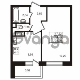 Продается квартира 1-ком 35.96 м² улица Пионерстроя 29, метро Проспект Ветеранов