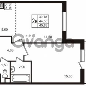 Продается квартира 1-ком 44.55 м² улица Пионерстроя 29, метро Проспект Ветеранов