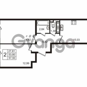 Продается квартира 2-ком 53.8 м² улица Пионерстроя 29, метро Проспект Ветеранов