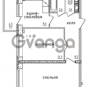 Продается квартира 2-ком 50.6 м² проспект Маршала Жукова 52, метро Проспект Ветеранов
