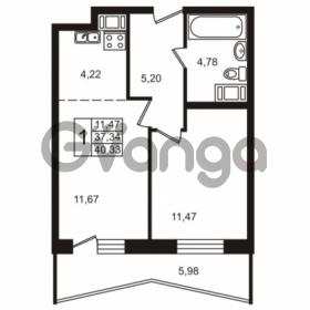 Продается квартира 1-ком 40.33 м² Лабораторный проспект 18, метро Лесная