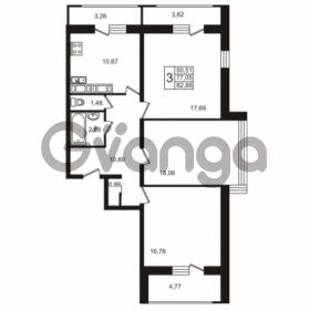 Продается квартира 3-ком 82.88 м² Лабораторный проспект 18, метро Лесная