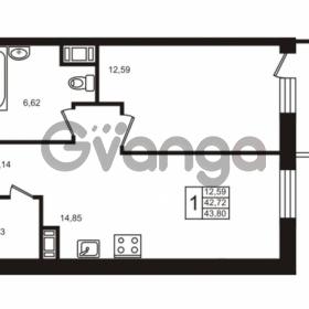 Продается квартира 1-ком 42.68 м² Московский проспект 73, метро Фрунзенская