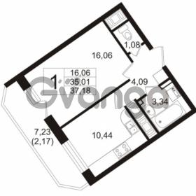 Продается квартира 1-ком 35.5 м² улица Шувалова 1, метро Девяткино