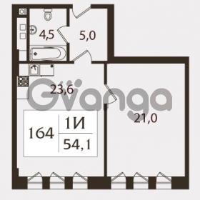 Продается квартира 1-ком 54.7 м² проспект КИМа 19Д, метро Приморская