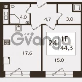 Продается квартира 1-ком 44.3 м² проспект КИМа 19Д, метро Приморская
