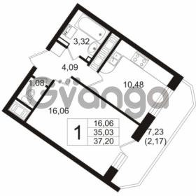Продается квартира 1-ком 36 м² Воронцовский бульвар 4, метро Девяткино