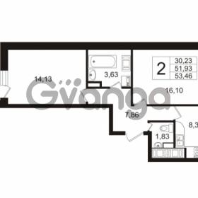 Продается квартира 2-ком 52 м² Воронцовский бульвар 4, метро Девяткино