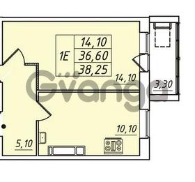 Продается квартира 1-ком 36.6 м² улица Николая Рубцова 1, метро Ладожская