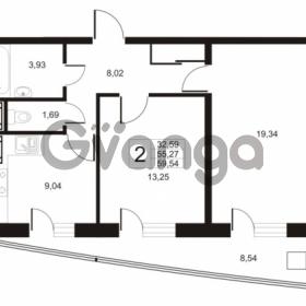 Продается квартира 2-ком 59 м² улица Катерников 1, метро Проспект Ветеранов