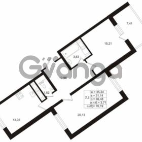 Продается квартира 2-ком 66.8 м² Воронцовский бульвар 2, метро Девяткино