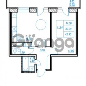 Продается квартира 1-ком 42 м² Немецкая улица 1, метро Улица Дыбенко
